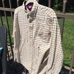 Tommy Hilfiger Cream Flannel Button Down Shirt